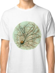 Dendritic tree and spines of an hippocampal neuron - watercolor - green Classic T-Shirt
