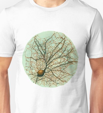 Dendritic tree and spines of an hippocampal neuron - watercolor - green Unisex T-Shirt