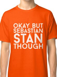Sebastian Stan - White Text Classic T-Shirt