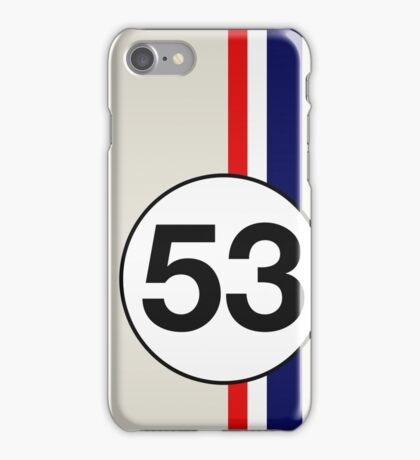 Herbie 53 Racing stripes iPhone Case/Skin