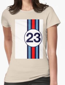 Martini Motor Racing Stripes Womens Fitted T-Shirt