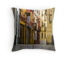 Streets of Seville Spain Throw Pillow