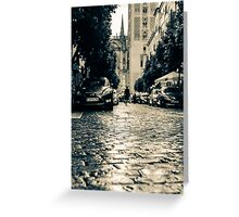 A rainy day in Seville, Spain  Greeting Card