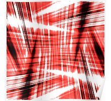 Black and red streaks Poster