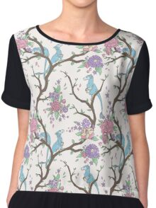 Wildflowers with Dinosaurs Chiffon Top