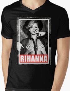 Rihanna Mens V-Neck T-Shirt
