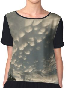Summer Storm Aftermath - Extraordinary Mammatus Clouds Chiffon Top