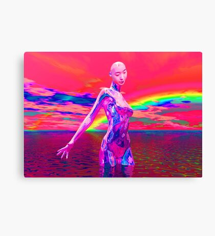 Cyborg Mask Canvas Print
