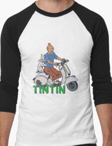 tintin Men's Baseball ¾ T-Shirt