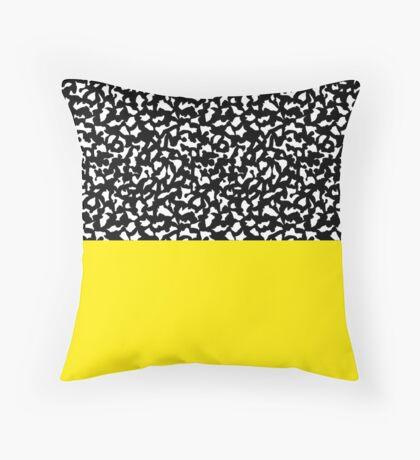 Memphis Black and Yellow 80s Throw Pillow