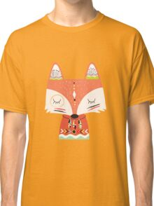 Tribal Animals Red Fox Two Classic T-Shirt