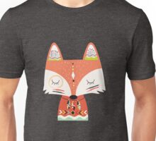 Tribal Animals Red Fox Two Unisex T-Shirt