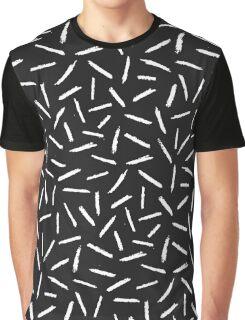 Black & White Scribble Confetti Pattern Graphic T-Shirt