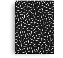 Black & White Scribble Confetti Pattern Canvas Print