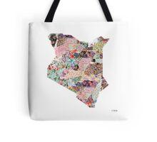 Kenya map Tote Bag