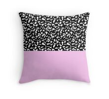 Memphis Black & Pink 80s Throw Pillow