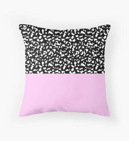 Memphis Black & Pink 80s Throw Pillow