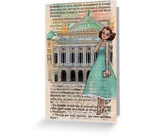 Paris Glamour - Palais Garnier Opera House Greeting Card
