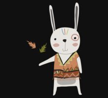 Cartoon Animals Tribal Bunny Rabbit Kids Tee