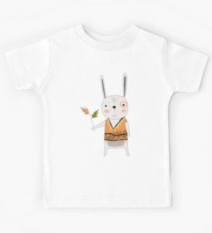Cartoon Animals Tribal Bunny Rabbit Kids Tee