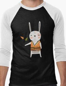 Cartoon Animals Tribal Bunny Rabbit Men's Baseball ¾ T-Shirt