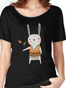Cartoon Animals Tribal Bunny Rabbit Women's Relaxed Fit T-Shirt