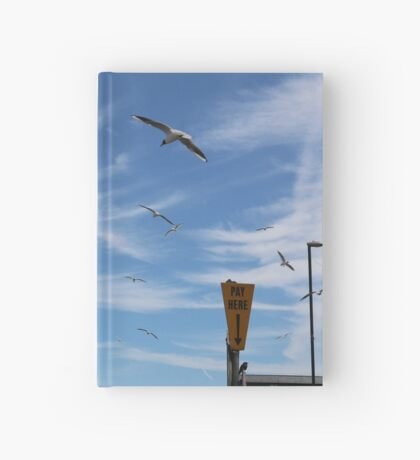 Seagulls at Wells Hardcover Journal