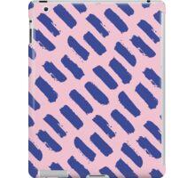 Paint Brush Stroke Pattern - Blue & Pink iPad Case/Skin