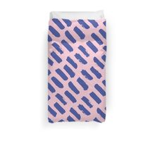 Paint Brush Stroke Pattern - Blue & Pink Duvet Cover