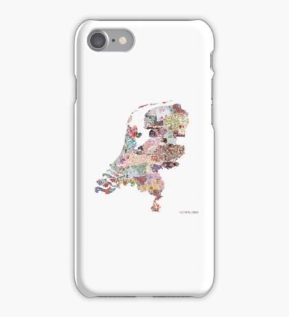 Netherlands map iPhone Case/Skin