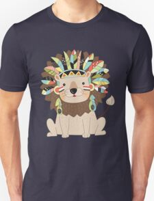 Cartoon Wild Animals Tribal Lion Unisex T-Shirt