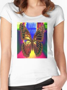 Angel Butterfly Women's Fitted Scoop T-Shirt
