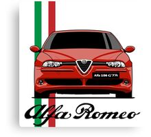 Alfa Romeo 156 GTA (red) Canvas Print