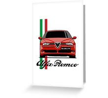 Alfa Romeo 156 GTA (red) Greeting Card
