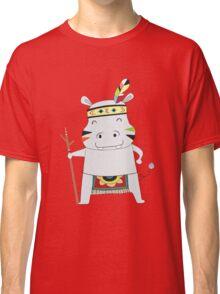 Cartoon Animals Tribal Hippopotamus Classic T-Shirt
