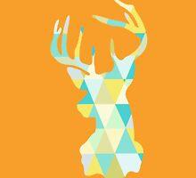 Kaleidoscope Art  Antlered Deer Stag  Unisex T-Shirt