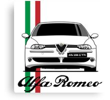 Alfa Romeo 156 GTA (white) Canvas Print
