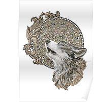 Mandala wolf Poster