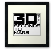 30 seconds to mars black Framed Print