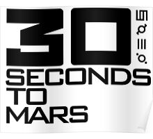 30 seconds to mars black Poster
