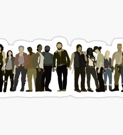 The Walking Dead Cast Sticker