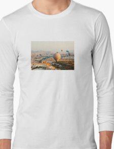 Flying hot air balloon over the Cappadocia Long Sleeve T-Shirt