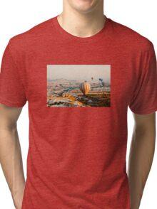 Flying hot air balloon over the Cappadocia Tri-blend T-Shirt