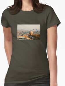 Flying hot air balloon over the Cappadocia Womens Fitted T-Shirt