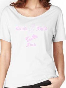 Pin Up Girl Tattoo - Pink Women's Relaxed Fit T-Shirt