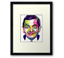Mr. Bean | PolygonART Framed Print