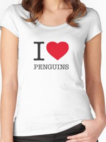 I ♥ PENGUINS Women's Fitted Scoop T-Shirt