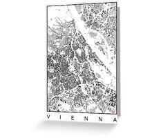 Vienna Map Schwarzplan Only Buildings Urban Plan Greeting Card