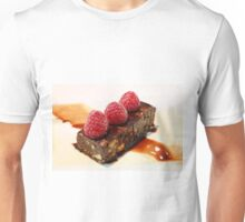 Chocolate Brownie & Fresh Raspberries Unisex T-Shirt