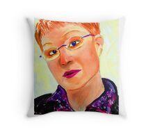 Cardboard Self Portrait Throw Pillow